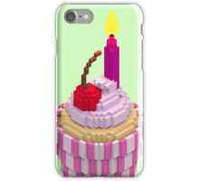 Cherry Cupcake with Candle iPhone Case/Skin