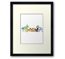 EEVEEVOLUTIONS Framed Print