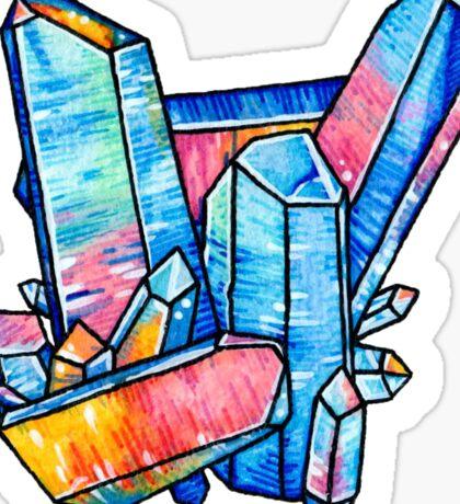 Aqua Aura Quartz Crystal Sticker