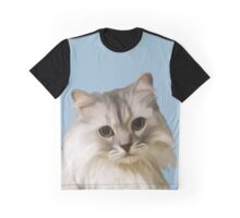 Fluffy Cat Graphic T-Shirt