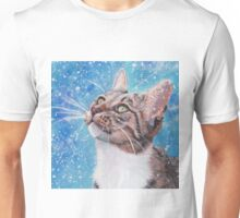 Beautiful Tabby Cat Winter Portrait Unisex T-Shirt