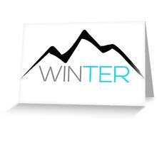 Winter Mountain Greeting Card