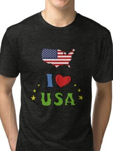 I love the united states of america Tri-blend T-Shirt