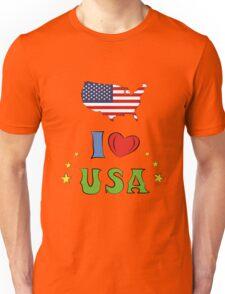 I love the united states of america Unisex T-Shirt