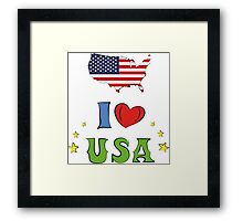 I love the united states of america Framed Print
