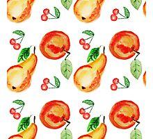 Bright watercolor fruit design.  Photographic Print