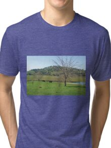 Grazing in lake hume Tri-blend T-Shirt