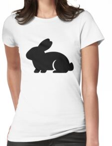 Rabbit Silhouette Womens Fitted T-Shirt