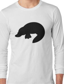 Platypus Silhouette Long Sleeve T-Shirt