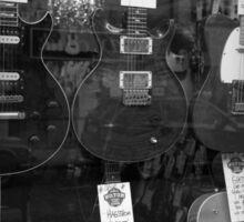 Electric Guitars in Window Display Sticker