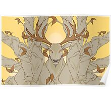 stag in nature Poster