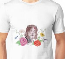 DARYL WATERCOLOUR FLOWER PRINT Unisex T-Shirt