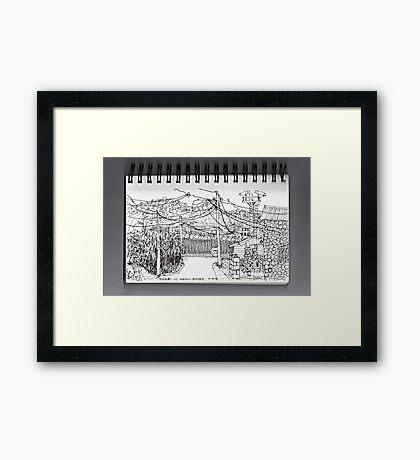 Nogales AZ- U.S.-Mexican border Framed Print