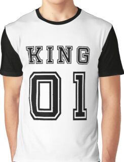 Vintage College Football Jersey Joking Design - King   Graphic T-Shirt