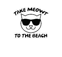 Take Meowt To The Beach Photographic Print