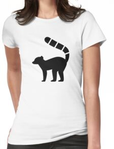 Lemur Silhouette Womens Fitted T-Shirt