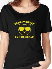 Take Meowt To The Beach Women's Relaxed Fit T-Shirt