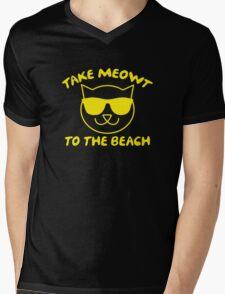 Take Meowt To The Beach Mens V-Neck T-Shirt