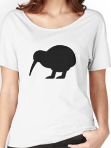 Kiwi Bird Silhouette Women's Relaxed Fit T-Shirt