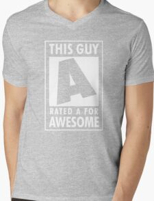This guy is rated A for awesome Mens V-Neck T-Shirt