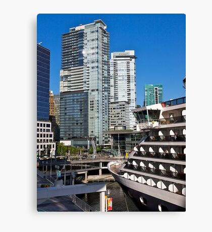 Vancouver City, Canada Place, Canada, 2012. Canvas Print