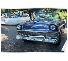 American car from the 50's in Havana, Cubas Poster