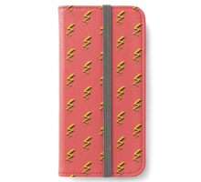 Lightning Bolts - Red iPhone Wallet/Case/Skin
