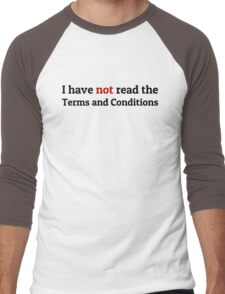 Funny Terms and Conditions Geek Design Men's Baseball ¾ T-Shirt
