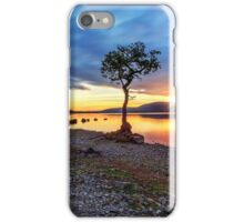 The Lone Tree at Sunset: Milarrochy Bay, Loch Lomond iPhone Case/Skin