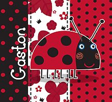 Gaston the Ladybird Throw Pillow/Tote Bag by Russ Jericho