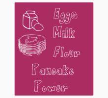 Eggs, Milk, Flour, Pancake Power. Kids Tee