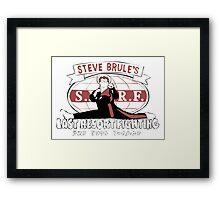Steve Brule's Last Resort Fighting Framed Print