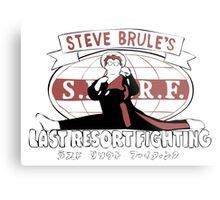 Steve Brule's Last Resort Fighting Metal Print