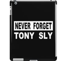 never forget tony sly iPad Case/Skin