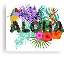 Aloha, Hawaiian Party Canvas Print