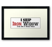 I Ship Iron Widow Framed Print