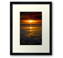 unreal sunset from beal beach Framed Print