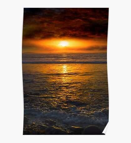 unreal sunset from beal beach Poster
