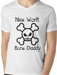 Bone Daddy (Black Text Clothing & Stickers ) Mens V-Neck T-Shirt