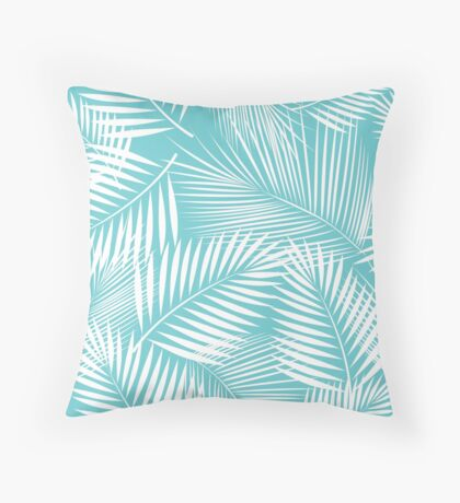 Leaves of palm tree Throw Pillow