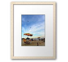 Beach feeling, Rio de Janeiro Framed Print