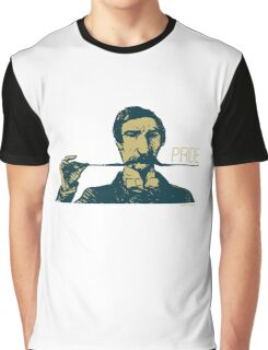 Vintage Hipster Long Mustache Pride  Graphic T-Shirt