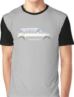 MINI, CAR, WHITE, BMW, BRITISH ICON, MOTORCAR Graphic T-Shirt