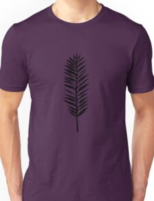 Palm leaves, Nature lover, Linocut pattern Unisex T-Shirt
