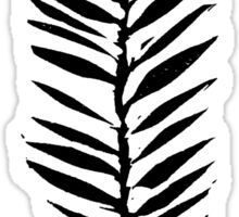 Palm leaves, Nature lover, Linocut pattern Sticker