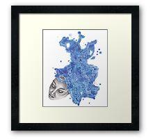 Strange Lady - Blue Framed Print