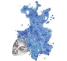 Strange Lady - Blue Photographic Print