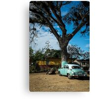 American car from the 50's, Cuba Canvas Print