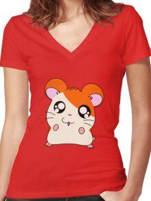 hamtaro Women's Fitted V-Neck T-Shirt
