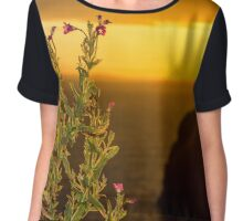 virgin rock and wild flowers sunset Chiffon Top